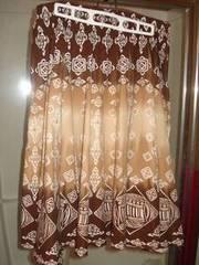 Brown Striped Skirt